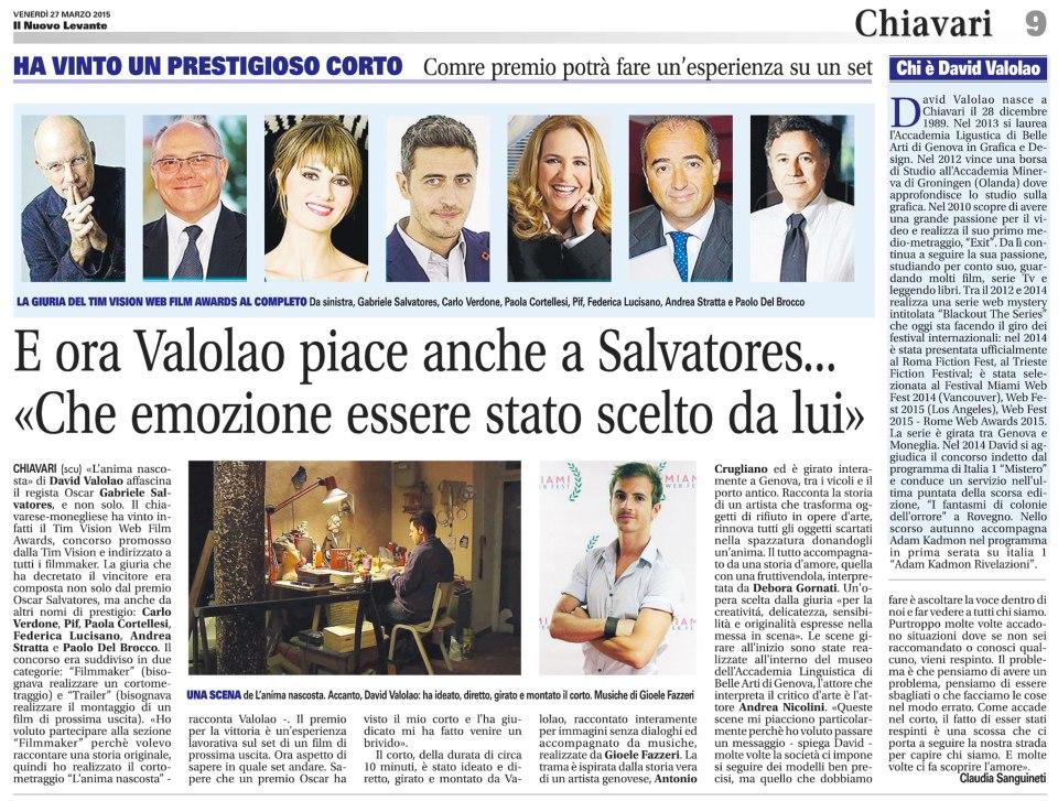 Articolo-giornale-27-Marzo-2015-David-Valolao-Tim-Vision